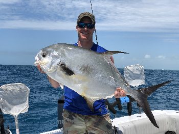 The Permit was caught offshore Islamorada with a Florida Keys fishing charter