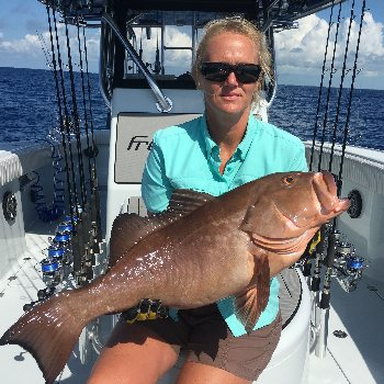 This fish was caught offshore Islamorada with a Florida Keys fishing charter
